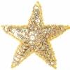 Motif Sequin/beads Star Gold Hologram 7.5cm